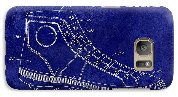 1934 Converse Shoe Patent Drawing Blue Galaxy Case by Jon Neidert
