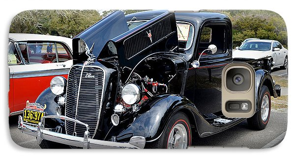Galaxy Case featuring the photograph 1937 Ford Pick Up by Kathy Baccari