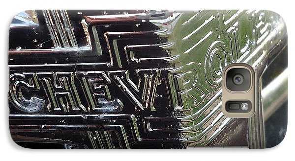 Galaxy Case featuring the photograph 1938 Chevrolet Sedan Emblem by Joseph Skompski