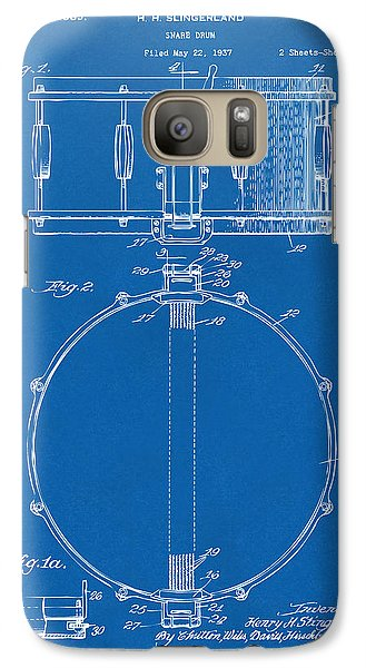 Drum Galaxy S7 Case - 1939 Snare Drum Patent Blueprint by Nikki Marie Smith