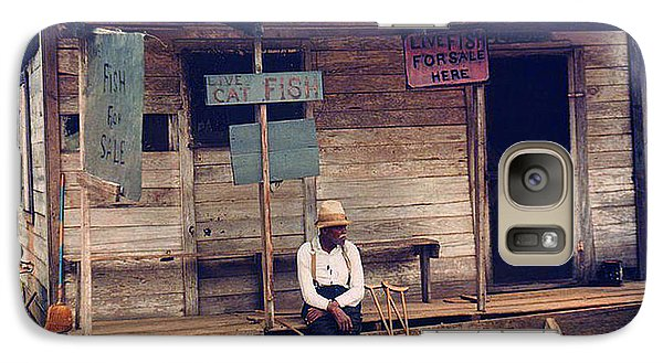 Galaxy Case featuring the photograph 1940 Catfish Store Natchitoches Louisiana by Merton Allen