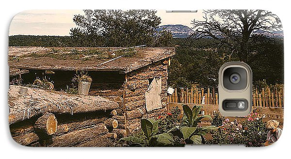 Galaxy Case featuring the photograph 1940 Dugout Homestead New Mexico by Merton Allen