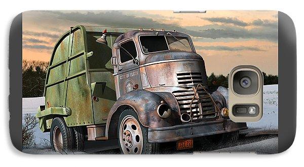 Galaxy Case featuring the digital art 1940 Gmc Garbage Truck by Stuart Swartz