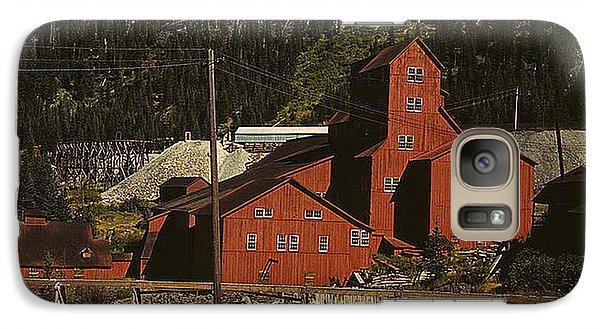 Galaxy Case featuring the photograph 1940 Mill Building Camp Bird Mine Colorado by Merton Allen