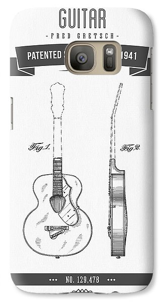 1941 Guitar Patent Drawing Galaxy S7 Case by Aged Pixel