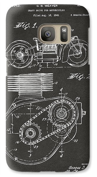1941 Indian Motorcycle Patent Artwork - Gray Galaxy Case by Nikki Marie Smith