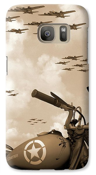 Airplanes Galaxy S7 Case - 1942 Indian 841 - B-17 Flying Fortress' by Mike McGlothlen