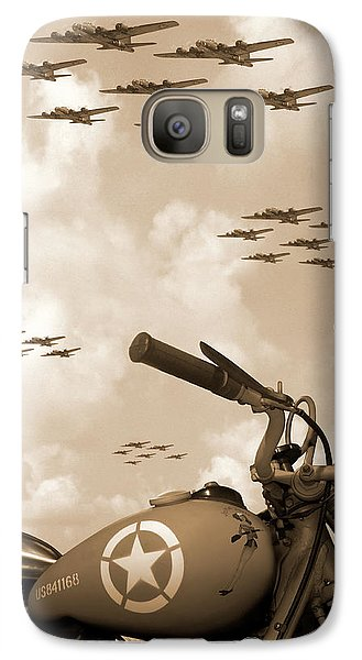 Bicycle Galaxy S7 Case - 1942 Indian 841 - B-17 Flying Fortress' by Mike McGlothlen