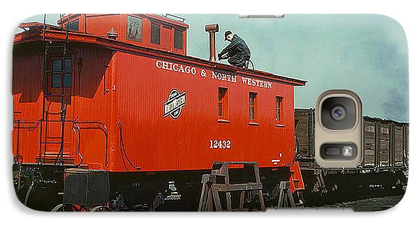 Galaxy Case featuring the photograph 1943 A Railroad Caboose by Merton Allen