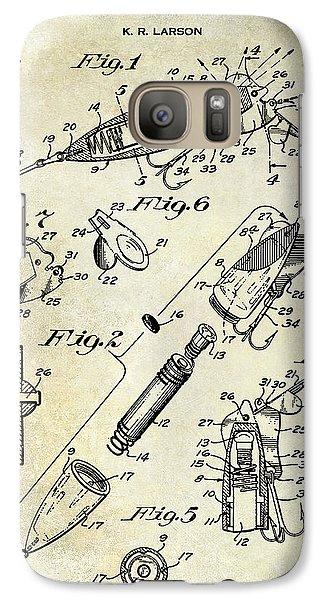 1940 Illuminated Bait Patent Drawing Galaxy S7 Case