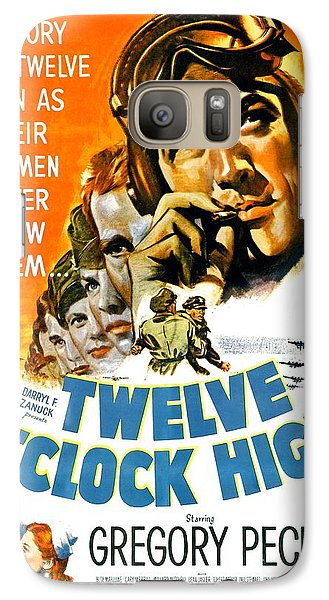 Roger Dean Galaxy S7 Case - 1949 - Twelve O Clock High Movie Poster - Gregory Peck - Dean Jagger - 20th Century Pictures - Color by John Madison