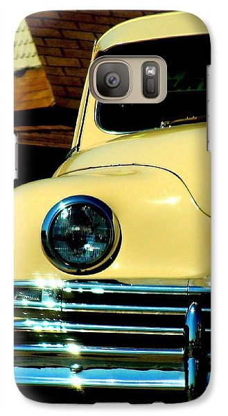 Galaxy Case featuring the photograph 1950 Yellow Packard by Janette Boyd
