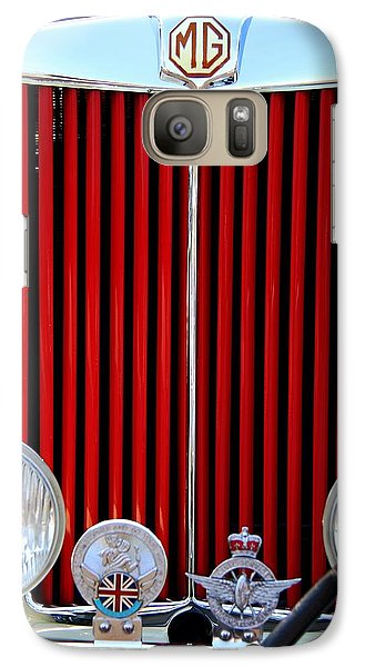Vintage Car Galaxy Case featuring the photograph 1950 Mg by Aaron Berg
