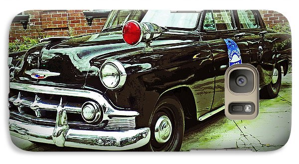 Galaxy Case featuring the photograph 1953 Police Car by Patricia Greer