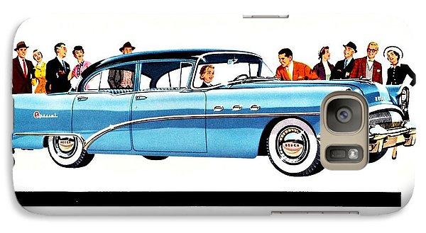 Galaxy Case featuring the digital art 1954 Buick Ad by Allen Beilschmidt