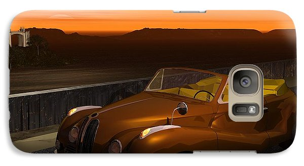 Galaxy Case featuring the digital art 1954 Cabriolet by John Pangia