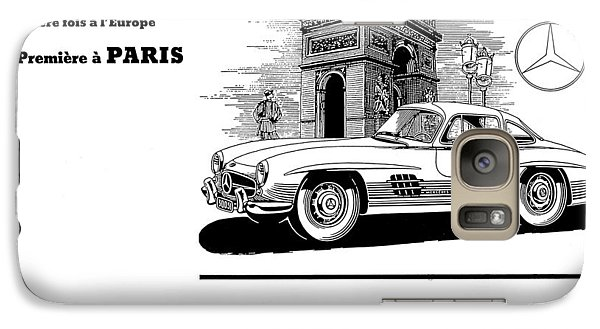 Galaxy Case featuring the digital art 1954 Mercedes Benz by Allen Beilschmidt