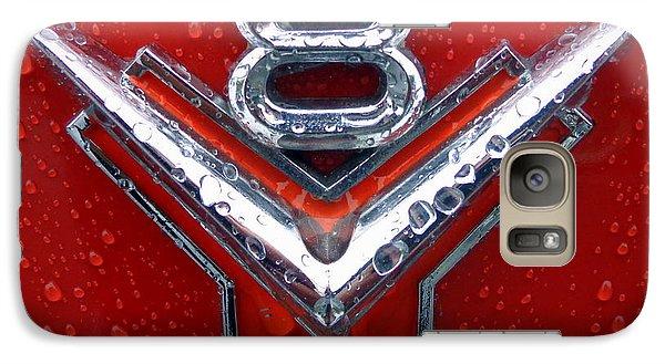Galaxy Case featuring the photograph 1955 Ford V8 Emblem by Joseph Skompski