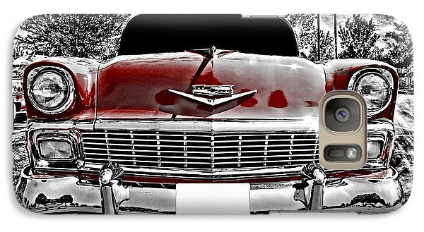 Vehicle Galaxy Case featuring the photograph 1956 Chevy Bel Air by Aaron Berg