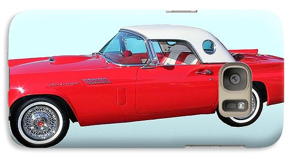 Vehicle Galaxy Case featuring the photograph 1957 Ford Thunderbird  by Aaron Berg