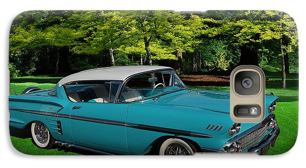 Galaxy Case featuring the digital art 1958 Chev Impala by Richard Farrington