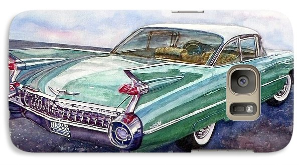 Galaxy Case featuring the painting 1959 Cadillac Cruising by Anna Ruzsan