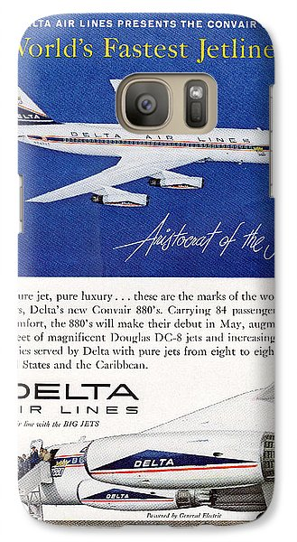 1960s Delta Convair 880 Ad Galaxy S7 Case