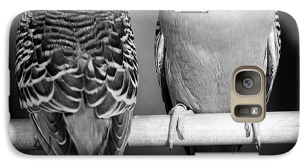 1960s Pair Of Parakeets Perched Galaxy S7 Case