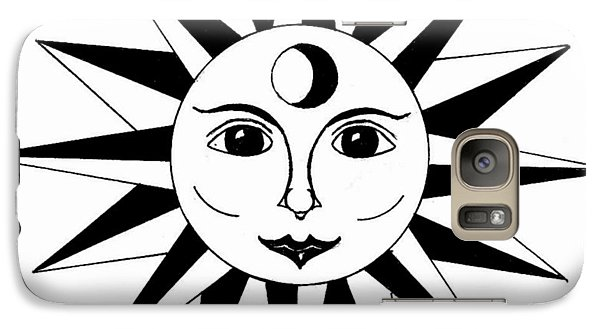 Galaxy Case featuring the drawing 1960's Sun Figure by Michael Dohnalek