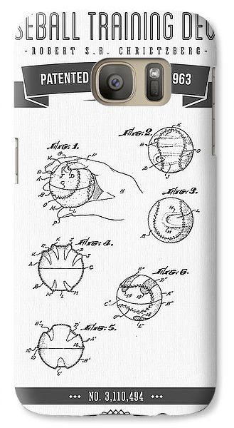 1963 Baseball Training Device Patent Drawing Galaxy S7 Case