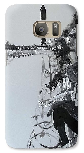 Galaxy Case featuring the painting 1963 D.c. Monument And Reflecting Pond by Leslie Byrne