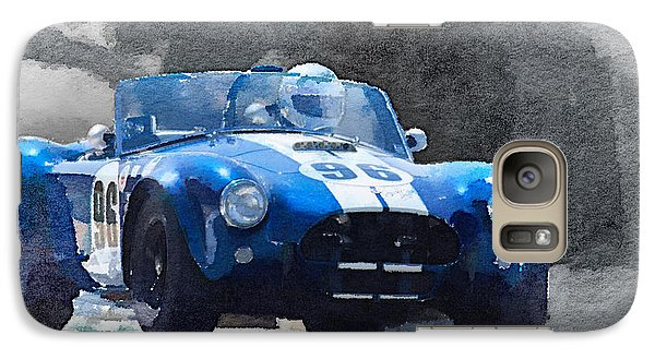 Cobra Galaxy S7 Case - 1964 Ac Cobra Shelby Racing Watercolor by Naxart Studio