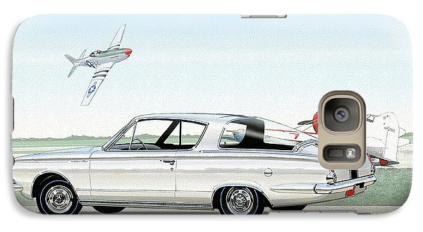 1965 Barracuda  Classic Plymouth Muscle Car Galaxy Case by John Samsen