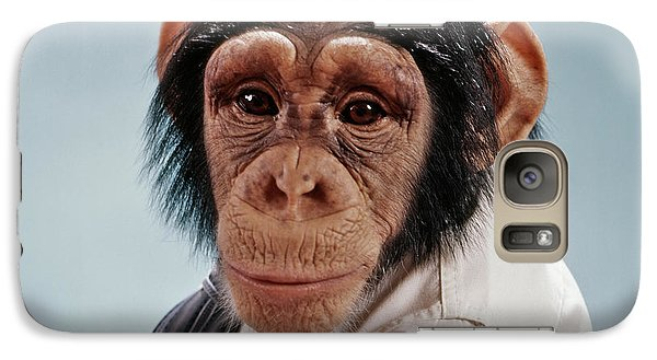 1970s Close-up Face Chimpanzee Looking Galaxy S7 Case