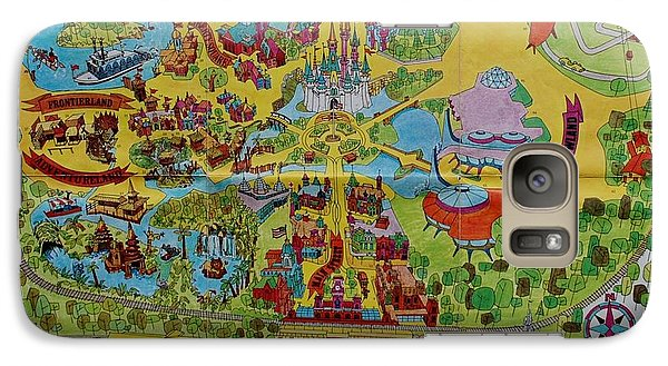 1971 Original Map Of The Magic Kingdom Galaxy S7 Case