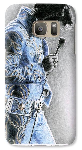 Elvis Presley Galaxy S7 Case - 1972 Light Blue Wheat Suit by Rob De Vries