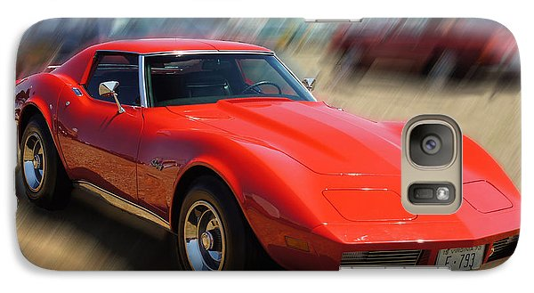 Galaxy Case featuring the photograph 1973 Corvette by B Wayne Mullins