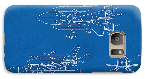 Space Ships Galaxy S7 Case - 1975 Space Shuttle Patent - Blueprint by Nikki Marie Smith