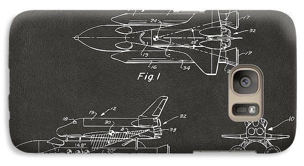 Space Ships Galaxy S7 Case - 1975 Space Shuttle Patent - Gray by Nikki Marie Smith