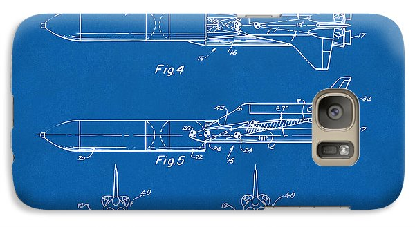 Space Ships Galaxy S7 Case - 1975 Space Vehicle Patent - Blueprint by Nikki Marie Smith