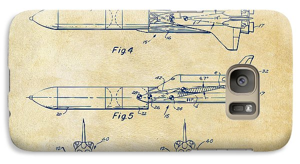 Space Ships Galaxy S7 Case - 1975 Space Vehicle Patent - Vintage by Nikki Marie Smith