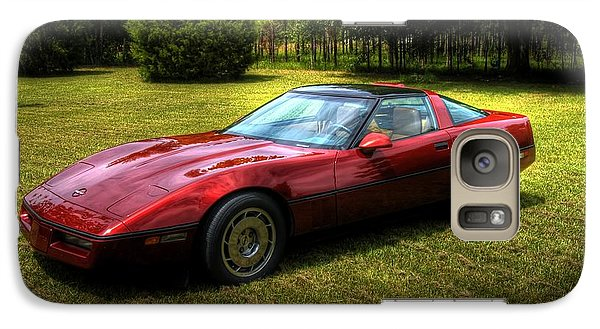 Galaxy Case featuring the photograph 1986 Corvette by Donald Williams