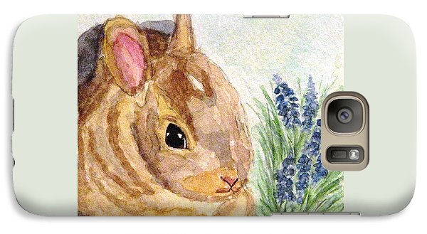 Galaxy Case featuring the painting A Baby Bunny by Angela Davies