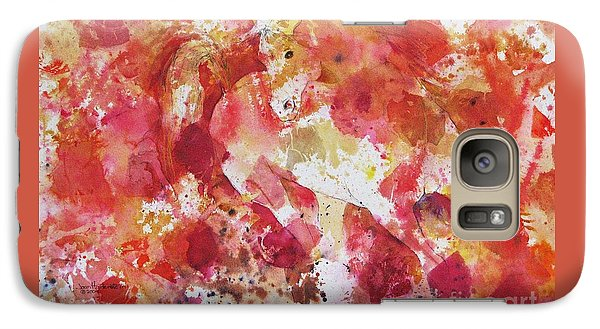 Galaxy Case featuring the painting A Horse Appeared by Joan Hartenstein