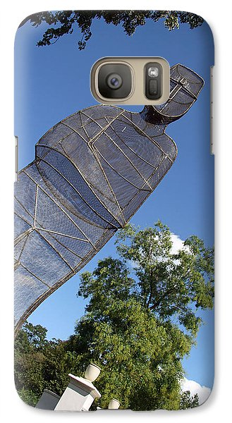 Galaxy Case featuring the photograph Minujin's A Man Of Mesh by Cora Wandel