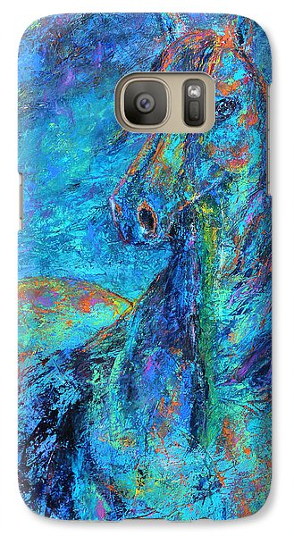Galaxy Case featuring the painting Abstract Arabian  by Jennifer Godshalk