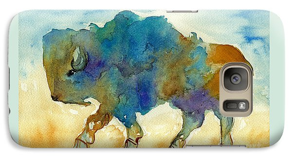 Galaxy Case featuring the painting Abstract Buffalo by Nan Wright