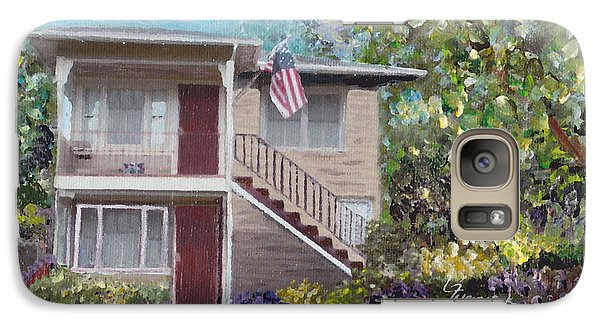 Galaxy Case featuring the painting Alameda 1908 Duplex  by Linda Weinstock