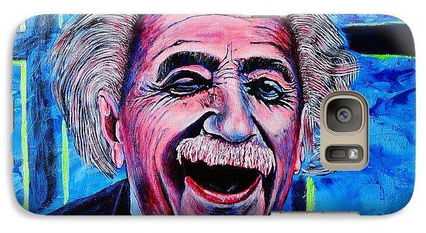 Galaxy Case featuring the painting Albert Einstein by Viktor Lazarev