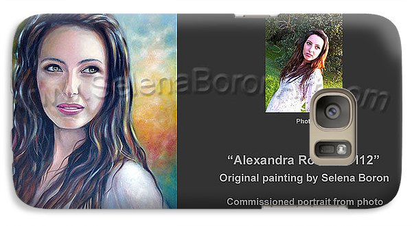 Galaxy Case featuring the painting Alexandra Rose 121112 by Selena Boron